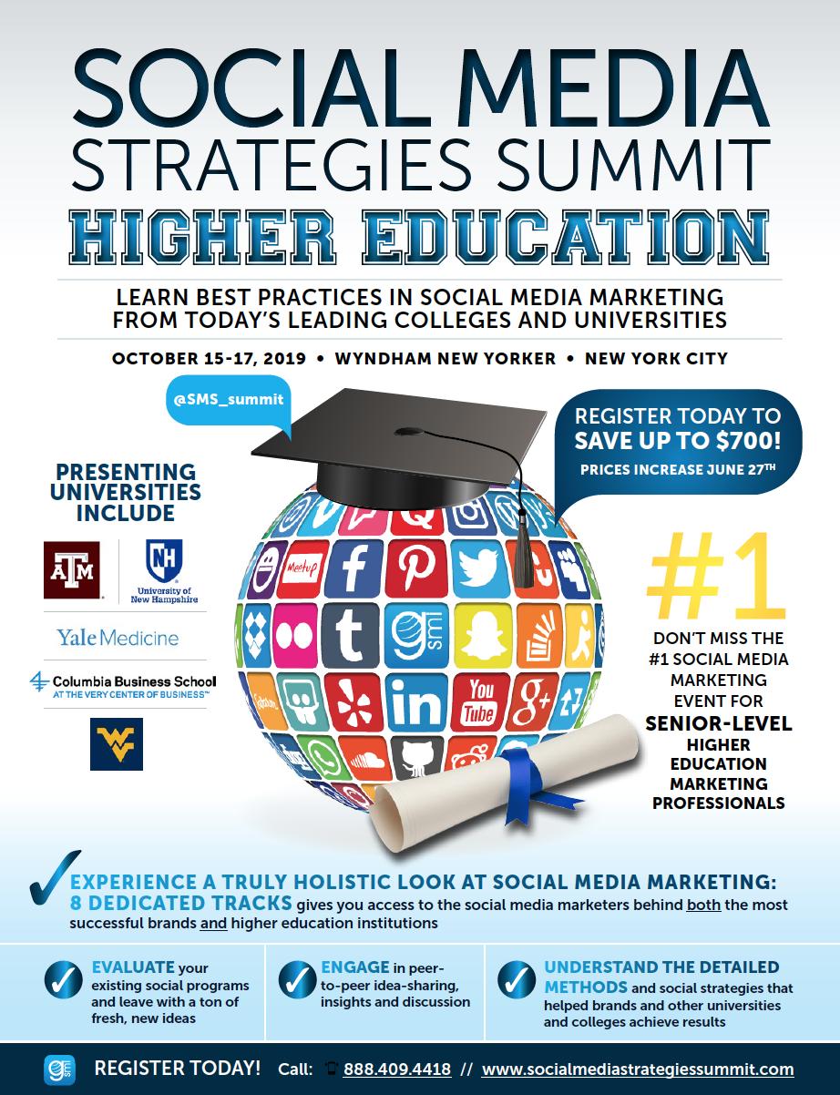 Social Media Marketing Strategy   SMSsummit Higher Ed