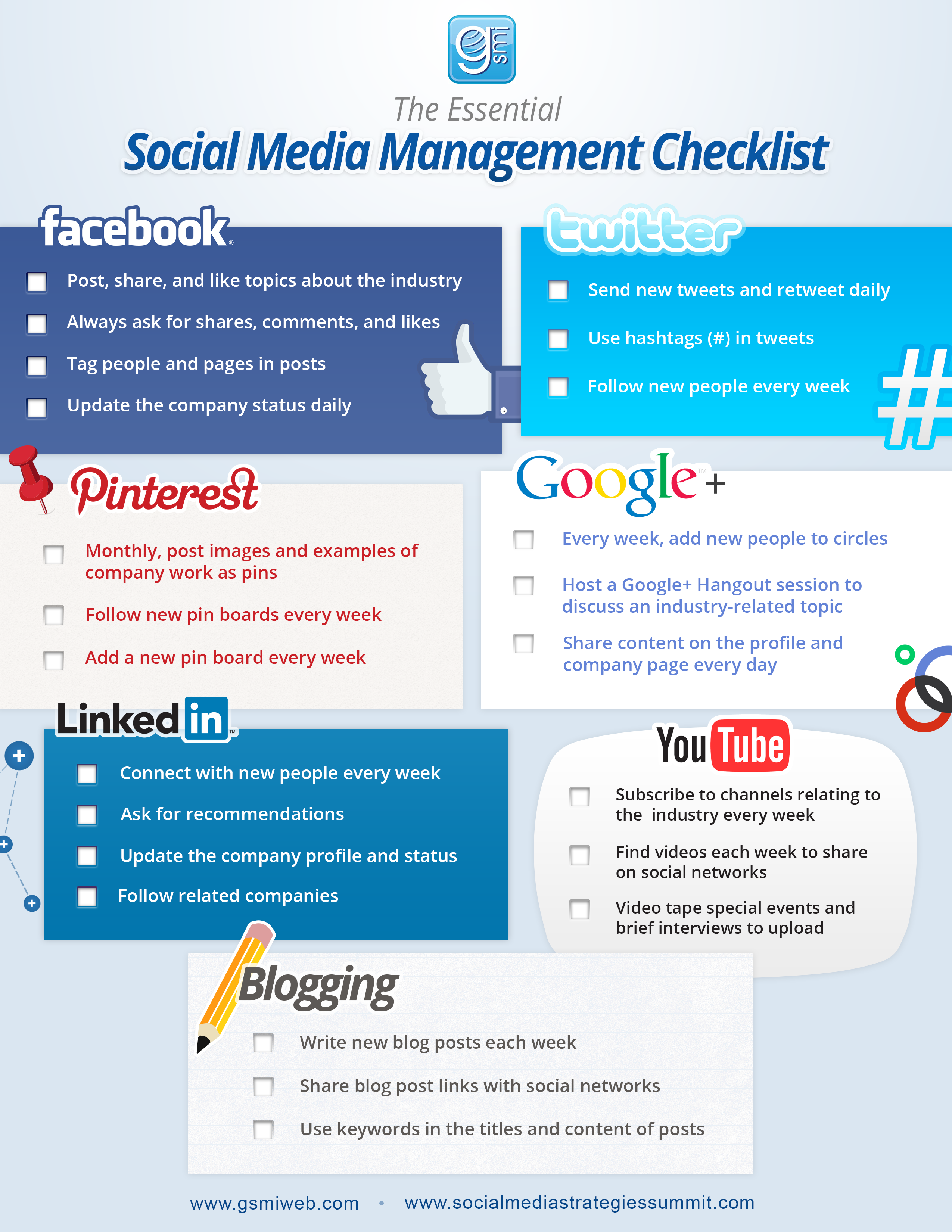 Social media strategies summit social media checklist for Social media rfp template